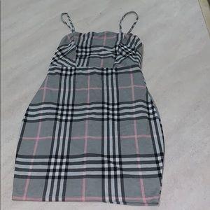 Plaid Spaghetti Strapped Mini Dress